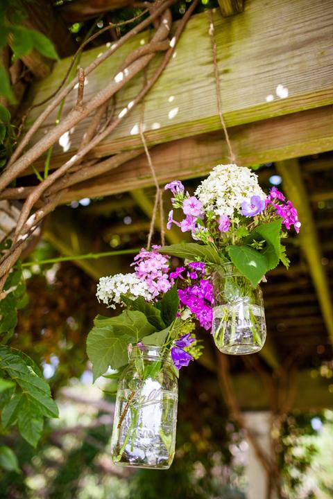 Mason Jar Flower Vases by Hundred Acre.