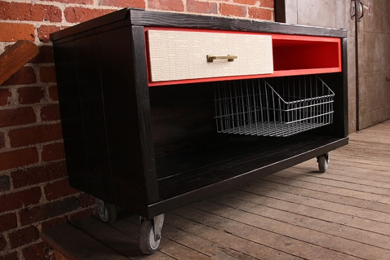 homes media cart by hundred acre design #3