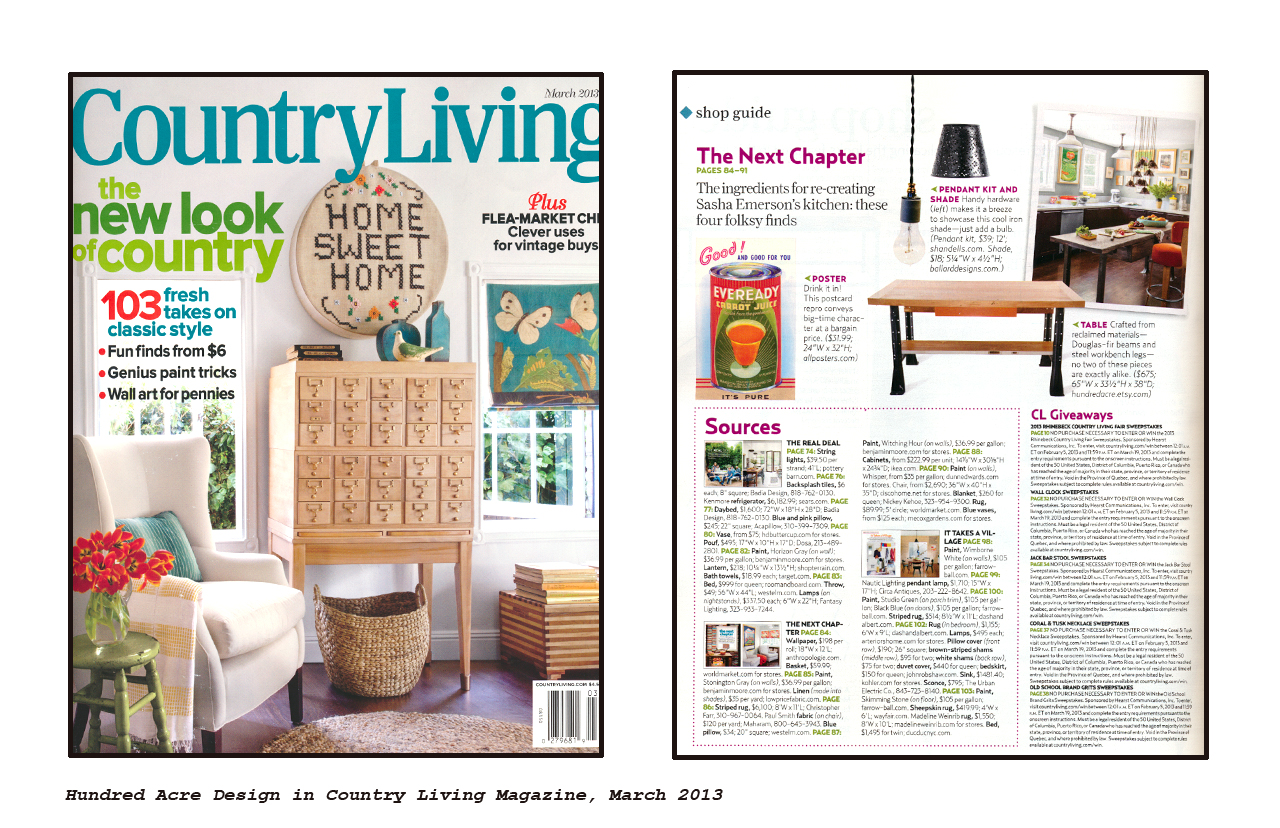 Living Magazine hundred acre design in country living magazine hundred acre design