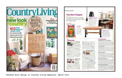 Hundred Acre Design in Country LivingMagazine