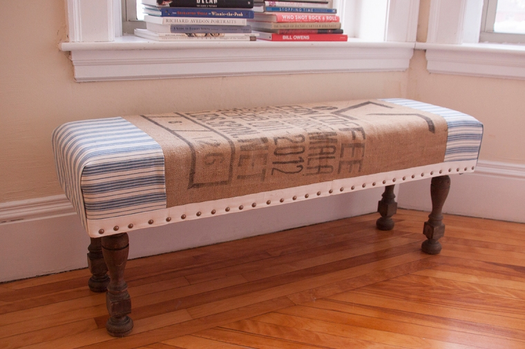 Coffee Bag Bench 1