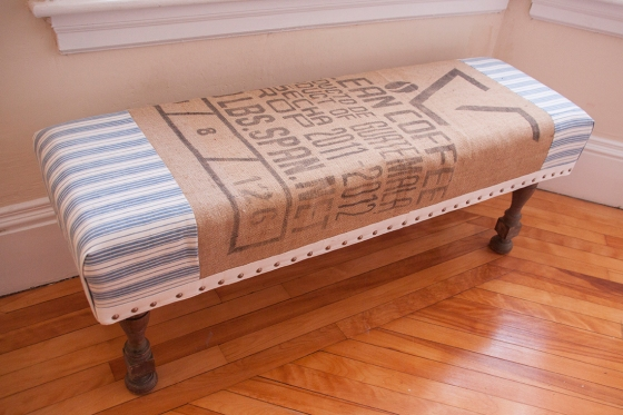 Coffee Bag Bench 2