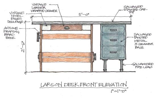 larson desk large