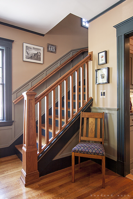 living room stairs craftsman charm part 1 front entry and living room 11096